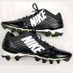 Nike Vapor Shark Football Cleats Black White Sz 12